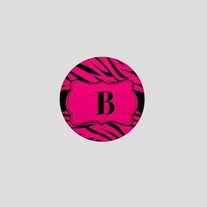 Personalizable Hot Pink Zebra Mini Button
