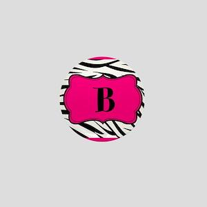 Personalizable Hot Pink Black Zebra Mini Button