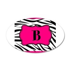 Personalizable Hot Pink Black Zebra Wall Decal