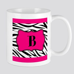 Personalizable Hot Pink Black Zebra Mugs