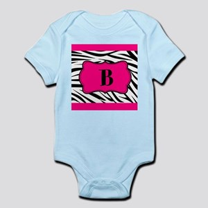 Personalizable Hot Pink Black Zebra Body Suit