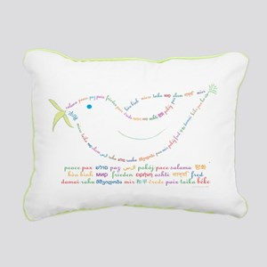 Peace Dove Rectangular Canvas Pillow