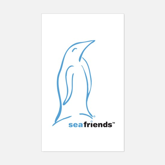 SeaFriends-Penguin Rectangle Decal