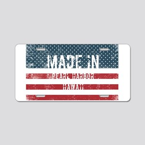 Made in Pearl Harbor, Hawai Aluminum License Plate