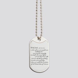 constitutionpreamble2 Dog Tags