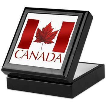 Canada Flag Souvenir Gift Boxes Keepsake Box