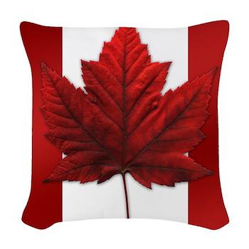 Canada Flag Souvenir Decor Woven Throw Pillow