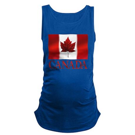 Canada Flag Souvenir Maternity Tank Top