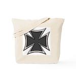 Chrome Black Biker Cross Tote Bag