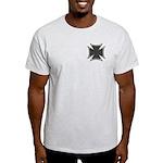 Chrome Black Biker Cross Light T-Shirt