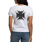 Chrome Black Biker Cross Women's T-Shirt