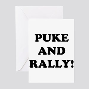 Puke &amp; Rally<br> Greeting Cards (Pk of 10)