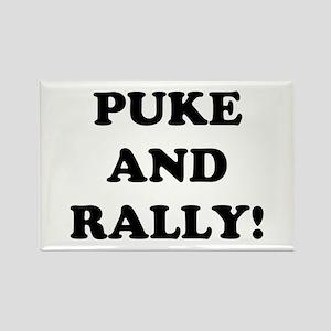 Puke &amp; Rally<br> Rectangle Magnet