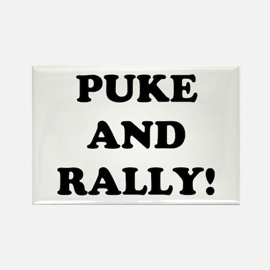Puke & Rally<br> Rectangle Magnet