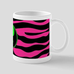 HOT PINK ZEBRA GREEN YIN-YANG Mugs