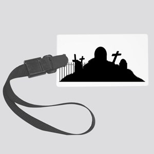 Graveyard Silhouette Luggage Tag