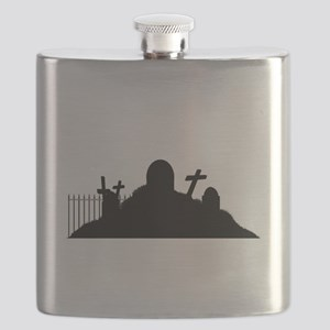 Graveyard Silhouette Flask
