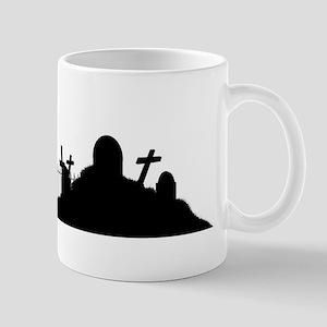 Graveyard Silhouette Mugs