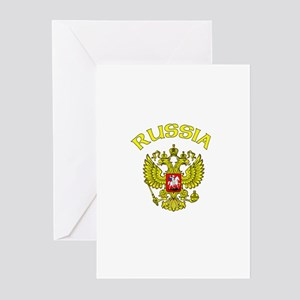 RUssia Coat of Arms (Dark) Greeting Cards (Package