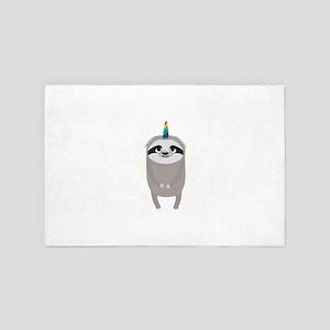 Unicorn Rainbow Sloth 4' x 6' Rug