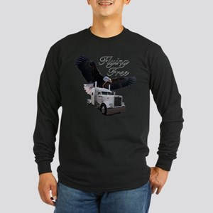 Flying Free Long Sleeve Dark T-Shirt