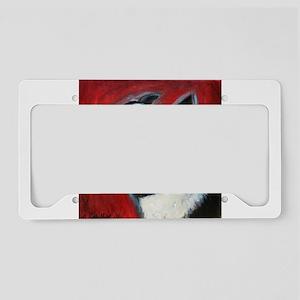 Portrait of a Boston Terrier License Plate Holder