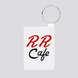 RR Cafe - Twin Peaks Aluminum Photo Keychain