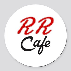 RR Cafe - Twin Peaks Round Car Magnet