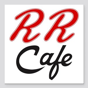 "RR Cafe - Twin Peaks Square Car Magnet 3"" x 3"""