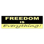 Freedom is Everything Bumper Sticker
