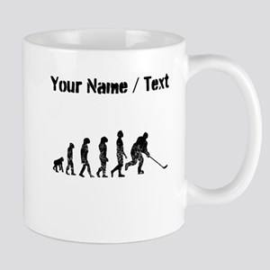 Custom Distressed Hockey Evolution Mugs