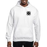 Chrome Black Biker Cross Hooded Sweatshirt