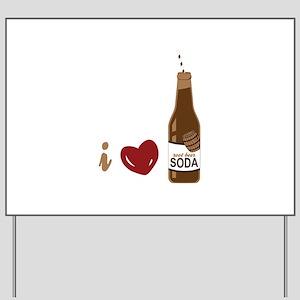 I Love Root Beer Yard Sign