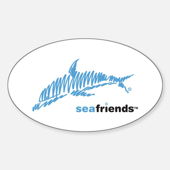 SeaFriends-Dolphin Oval Decal