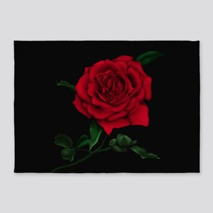 Red Rose 5'x7'area Rug