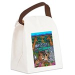 Canvas Lunch Bag With Safari Motif