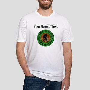 Custom Distressed Hide And Seek Champion T-Shirt