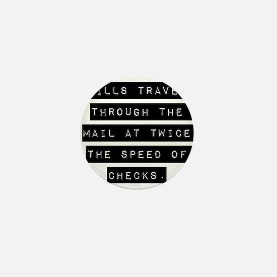 Bills Travel Through The Mail Mini Button