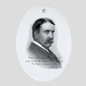 Daniel Burnham Chicago Architect Oval Ornament