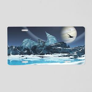 Ice Dragon Aluminum License Plate