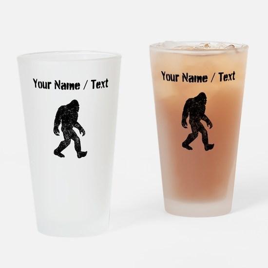 Custom Distressed Bigfoot Silhouette Drinking Glas