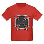 Chrome Black Biker Cross Kids Dark T-Shirt