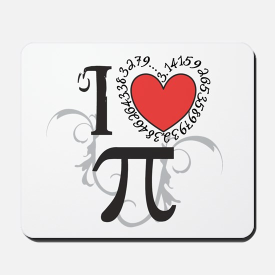 I heart Pi Mousepad