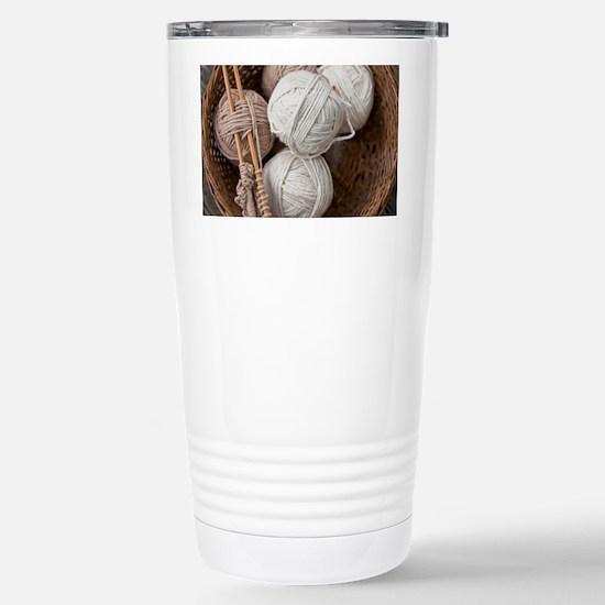 Balls of Yarn  Stainless Steel Travel Mug