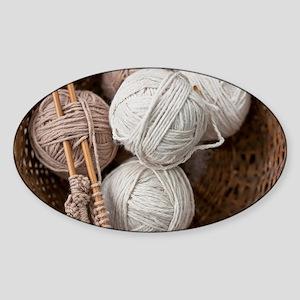 Balls of Yarn  Sticker (Oval)