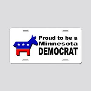 Proud Minnesota Democrat Aluminum License Plate