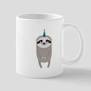 Unicorn Rainbow Sloth Mugs