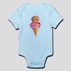 El Dia de Los Muertos Ice Cream Body Suit
