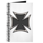 Chrome Black Biker Cross Journal