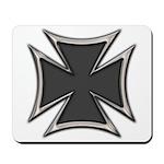 Chrome Black Biker Cross Mousepad